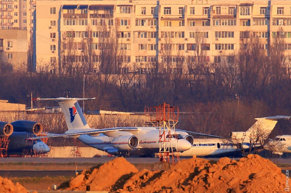 Самолет Каддафи в Одессе