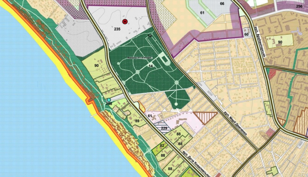 """В Генплане зеленая зона обозначена как """"мемориальный парк"""""""