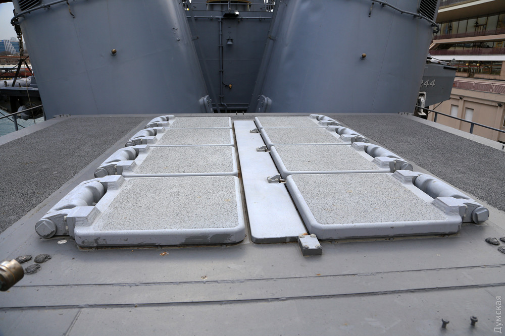 """Шахтные пусковые установки Mk41 на борту """"Барбарос"""""""