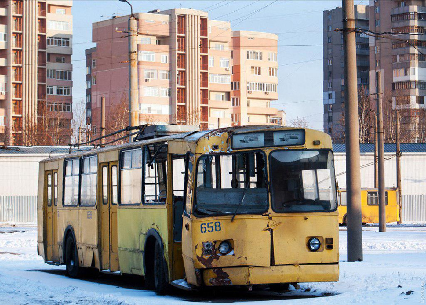 Троллейбус №658 в 2012 году. Фото Little Tram, odessatrolley.com