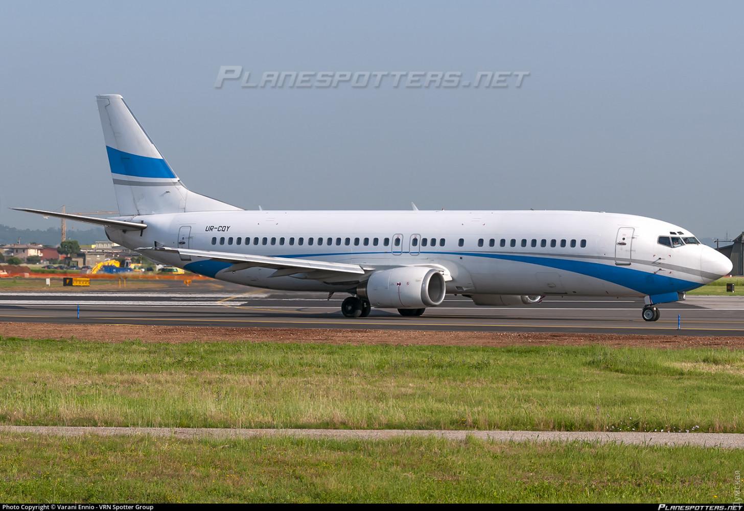 """Борт UR-CQY авиакомпании """"Джоника"""" в ливрее бывшего владельца - Enter Air. Фото Varani Ennio"""