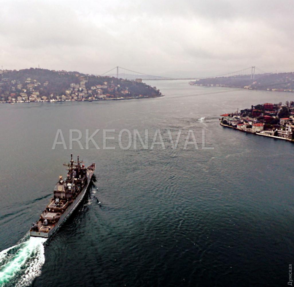 Американский ракетный крейсер «Монтерей» вошел в Черное море 1