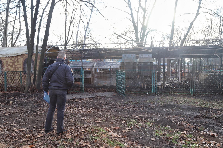 Пожар в Одессе: сгорело два аттракциона - 1
