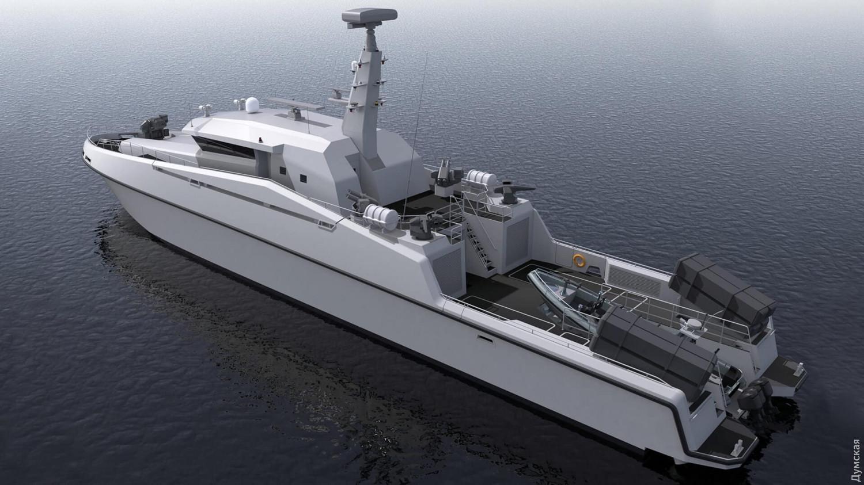 Предварительный эскиз будущего ракетного катера ВМС Украины