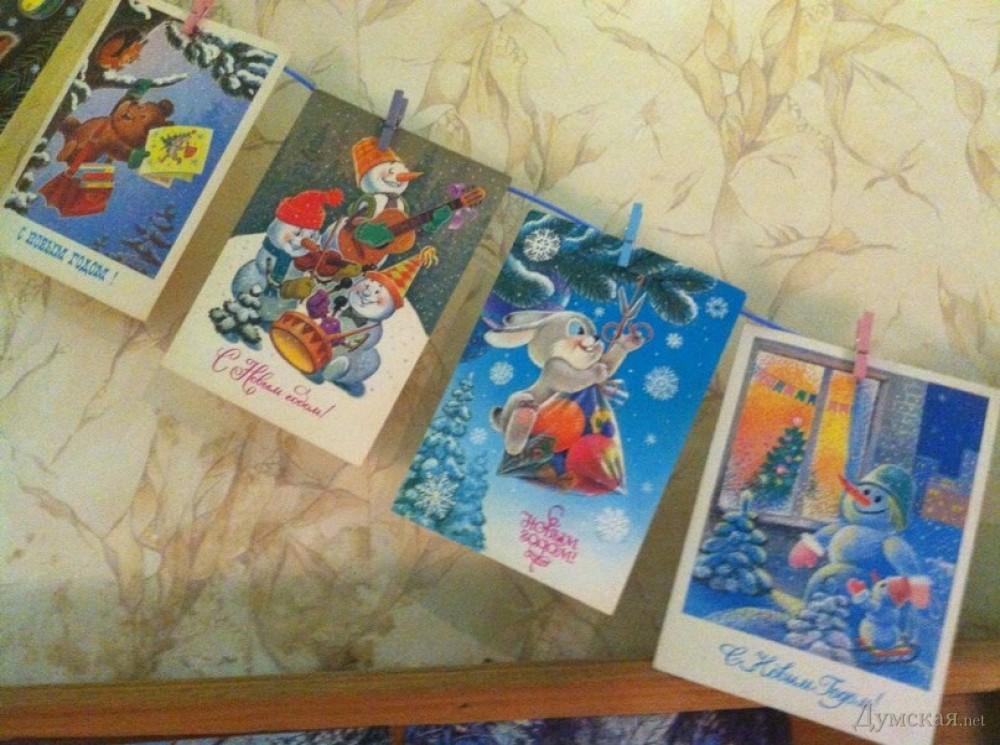 Выставка открыток к новому году