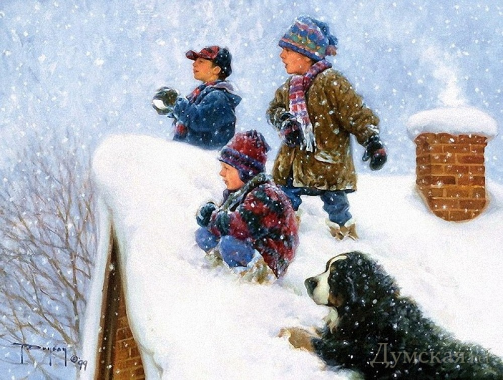 типы картинка новогодние забавы снежки должен