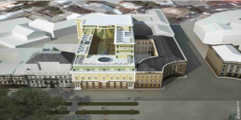 Визуализация грядущей реконструкции. Многоэтажный отельный комплекс - на заднем плане