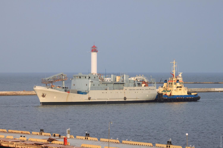 21 октября 2019 года корабль прибыл в Одессу. Фото Владимира Трофимова
